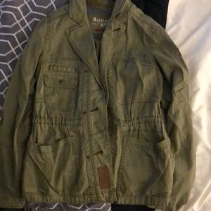 Military inspired Anthropologie jacket